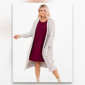 Cable Knit Dreamy Duster - Cream